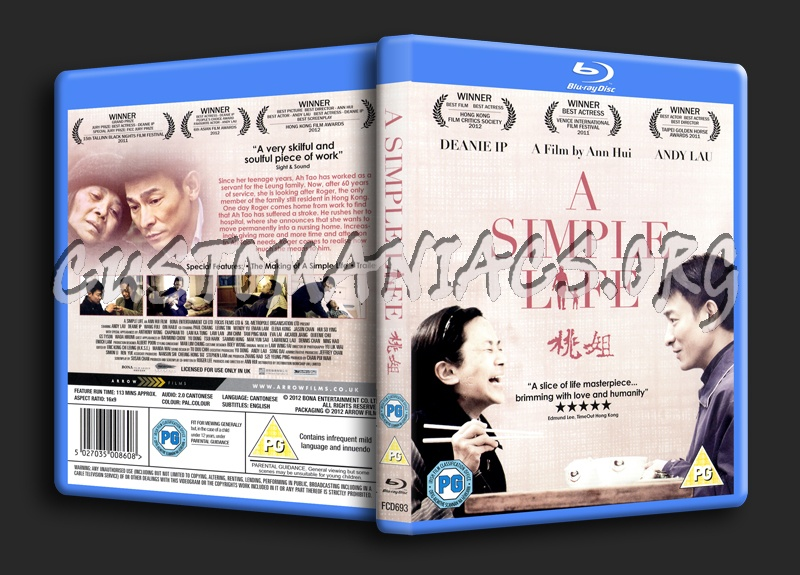 A Simple Life blu-ray cover - DVD Covers & Labels by