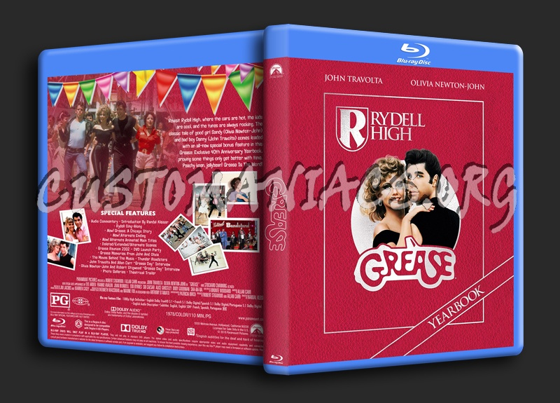 Grease blu-ray cover