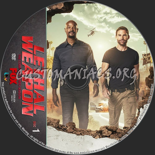 Lethal Weapon Season 3 dvd label