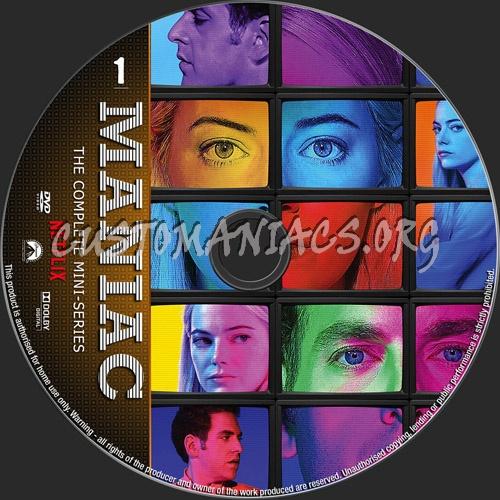 Maniac Mini-Series dvd label