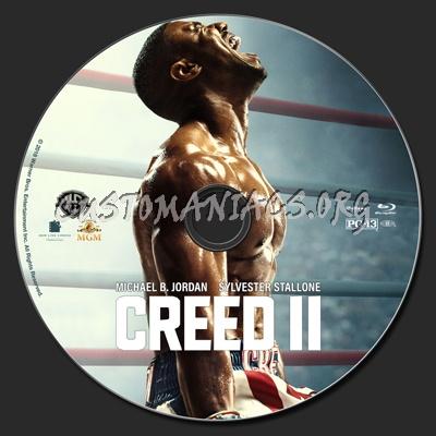 Creed II blu-ray label
