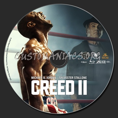 Creed II blu-ray label