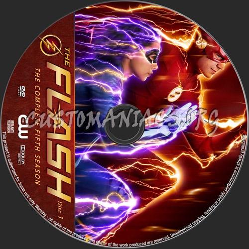The Flash Season 5 dvd label