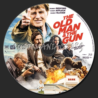 The Old Man & The Gun blu-ray label