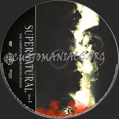 Supernatural Season 14 dvd label
