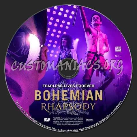 Bohemian Rhapsody (2018) dvd label