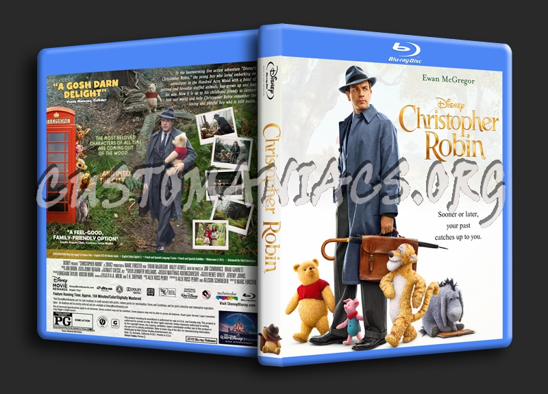 Christopher Robin blu-ray cover
