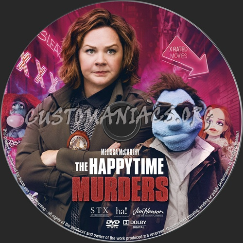 The Happytime Murders (2018) dvd label