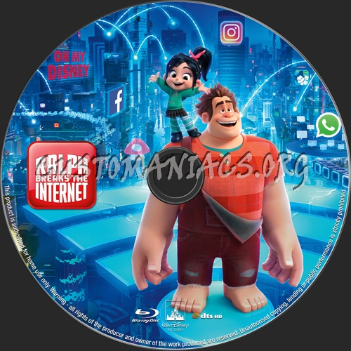Ralph Breaks The Internet 2018 Blu Ray Label Dvd Covers Labels By Customaniacs Id 254277 Free Download Highres Blu Ray Label