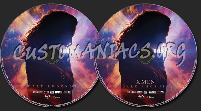 X-Men Dark Phoenix (2019) blu-ray label