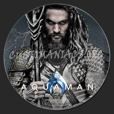 Aquaman (2018) dvd label
