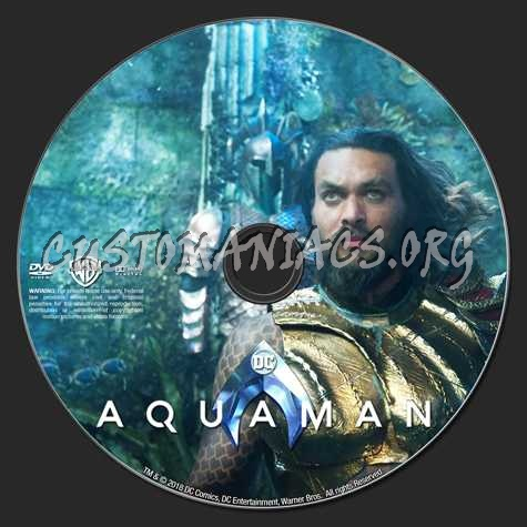 Aquaman (2018) dvd label