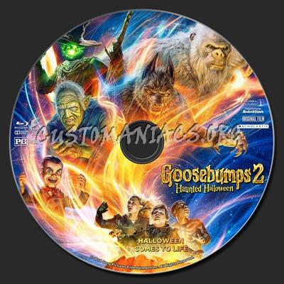 Goosebumps 2: Haunted Halloween blu-ray label