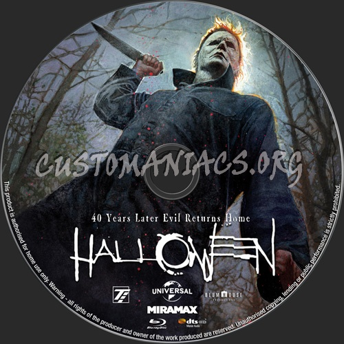 Halloween 2018 blu-ray label