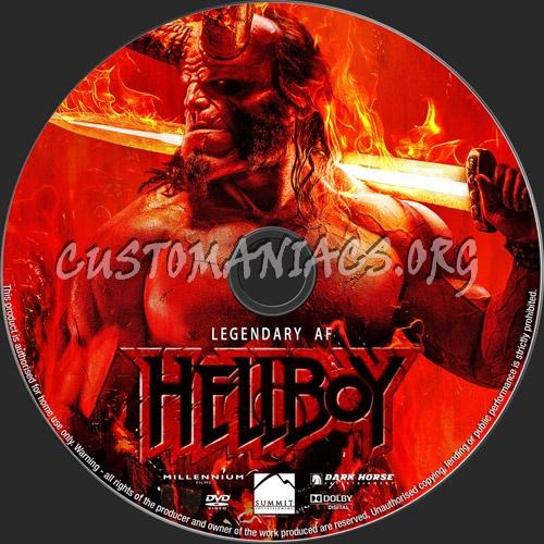 Hellboy 2019 dvd label