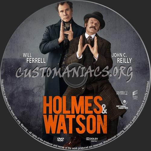Holmes & Watson 2018 dvd label