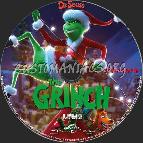 The Grinch 2018 blu-ray label