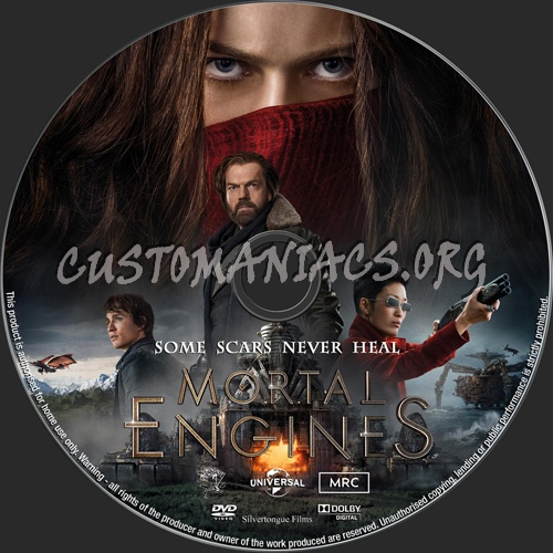 Mortal Engines dvd label