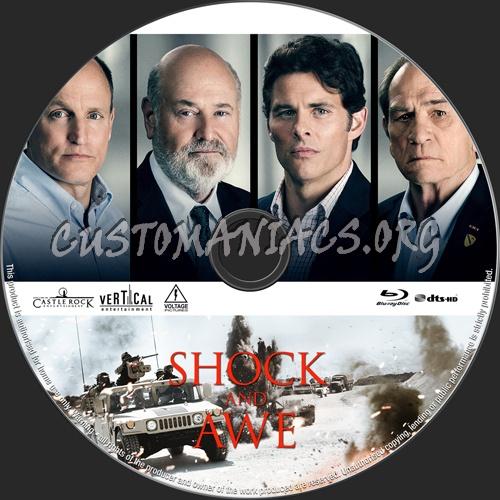 Shock and Awe (2018) blu-ray label