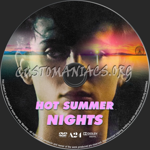 Hot Summer Nights (2018) dvd label