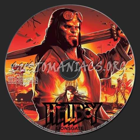 HellBoy (2019) blu-ray label