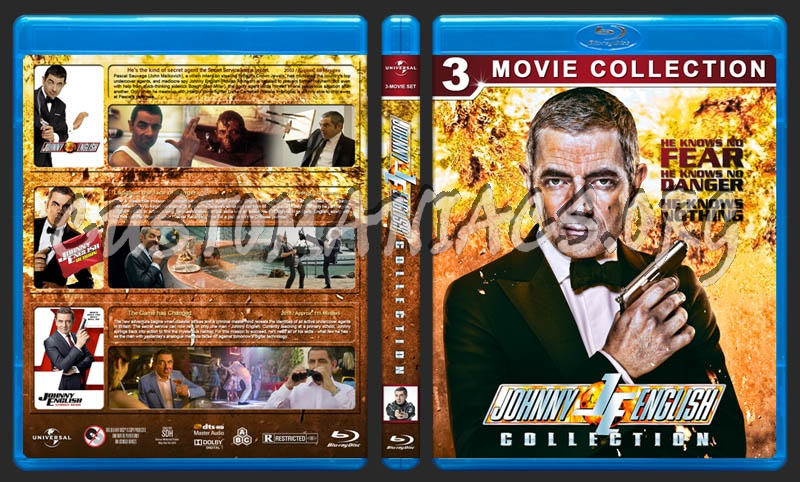 Johnny English Collection blu-ray cover