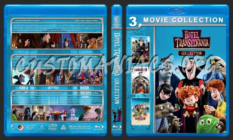 Hotel Transylvania Collection blu-ray cover