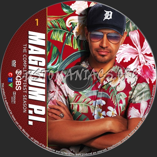 Magnum PI Season 1 dvd label