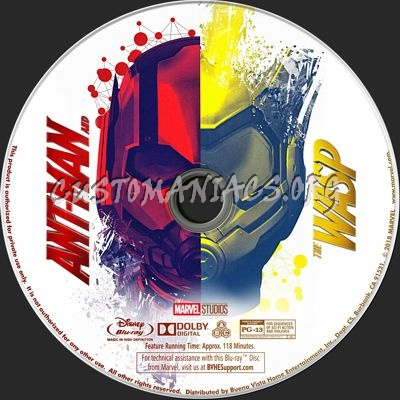 Ant-Man and the Wasp blu-ray label