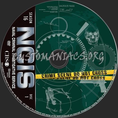 NCIS Season 16 dvd label