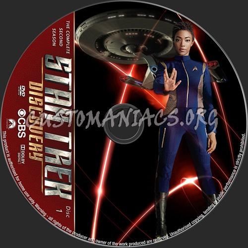 Star Trek Discovery Season 2 dvd label