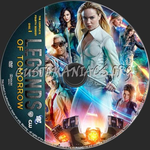 Legends Of Tomorrow Season 4 dvd label