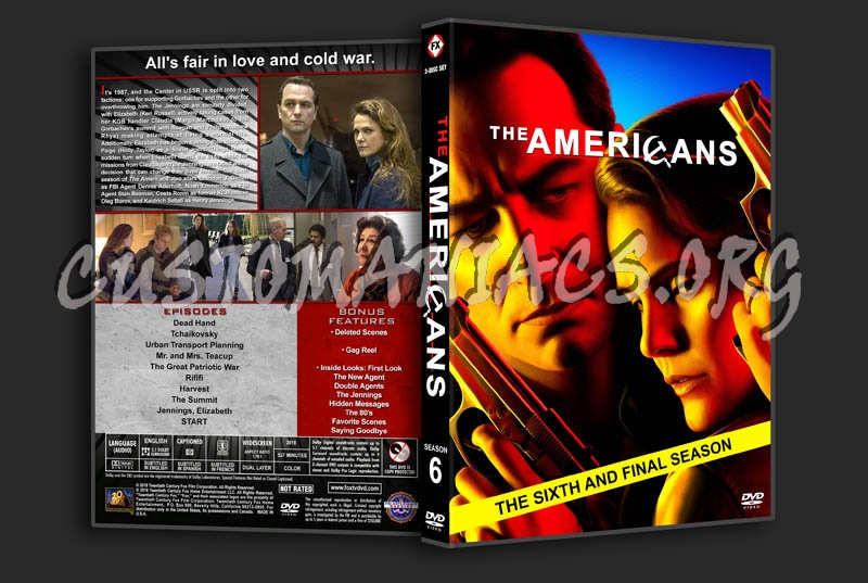 The Americans - Season 6 dvd cover