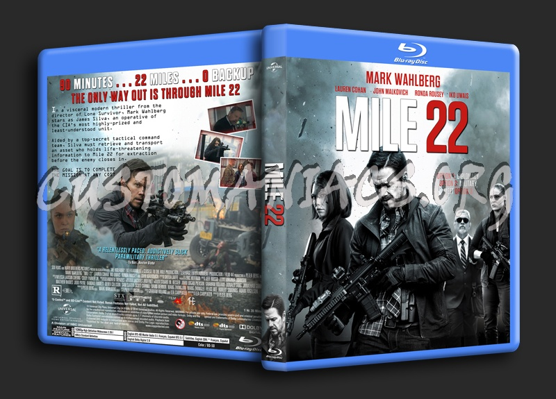 Mile 22 blu-ray cover