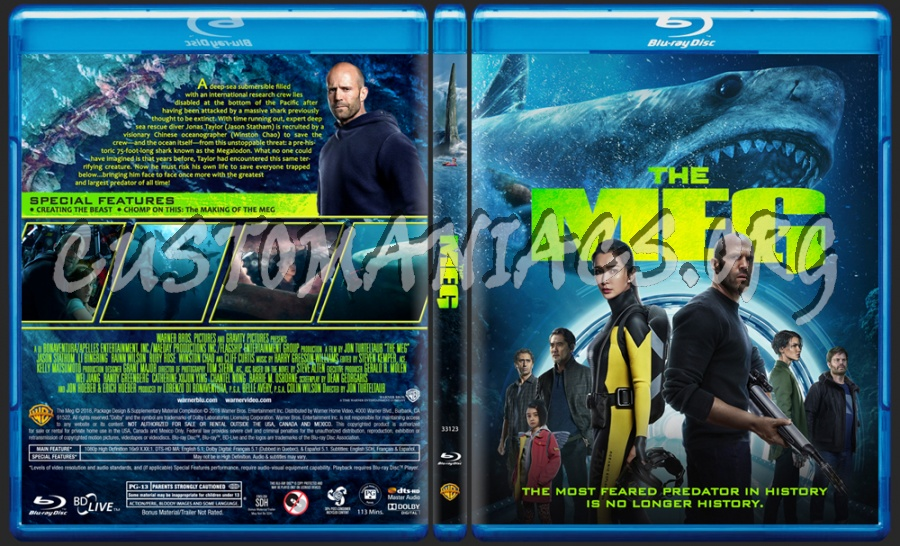 The MEG blu-ray cover