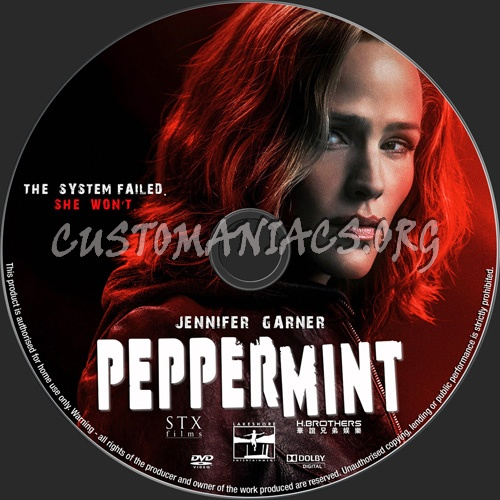 Peppermint dvd label