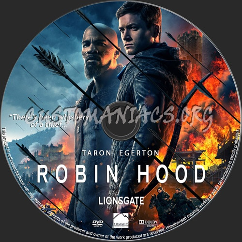 Robin Hood 2018 dvd label