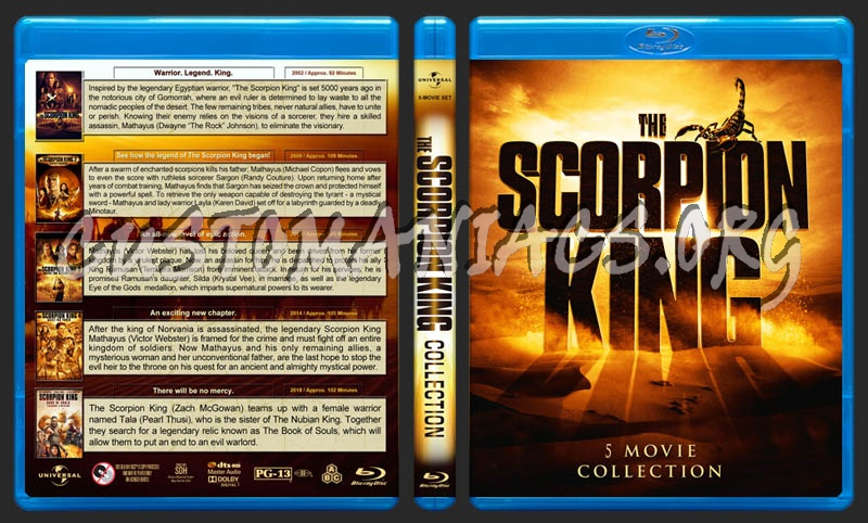 The Scorpion King Collection (5) blu-ray cover