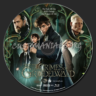 Fantastic Beasts: The Crimes Of Grindelwald blu-ray label