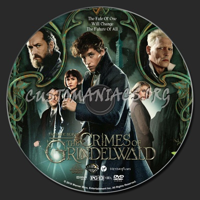 Fantastic Beasts: The Crimes Of Grindelwald dvd label