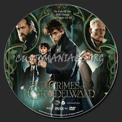 Fantastic Beasts: The Crimes Of Grindelwald dvd label