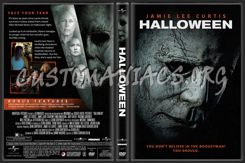 Halloween (2018) dvd cover