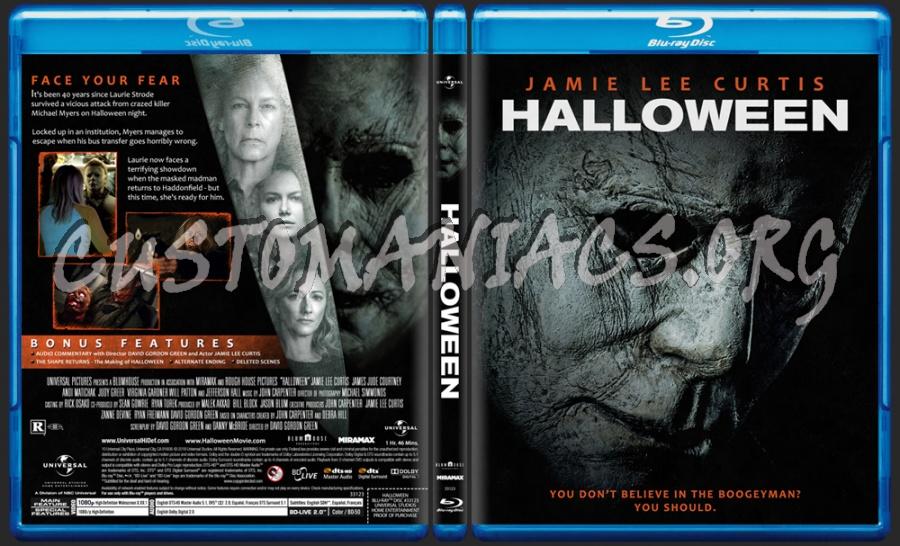 Halloween (2018) blu-ray cover