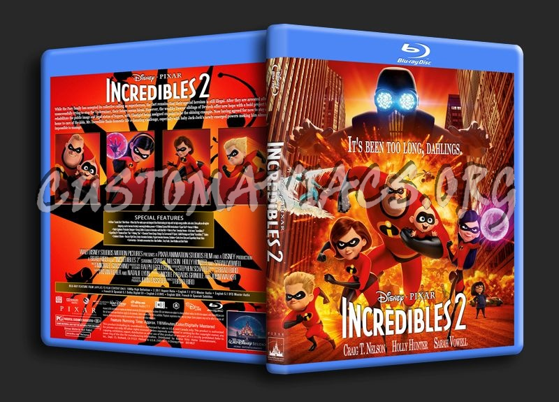 Incredibles 2 blu-ray cover
