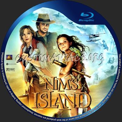 Nim's Island blu-ray label