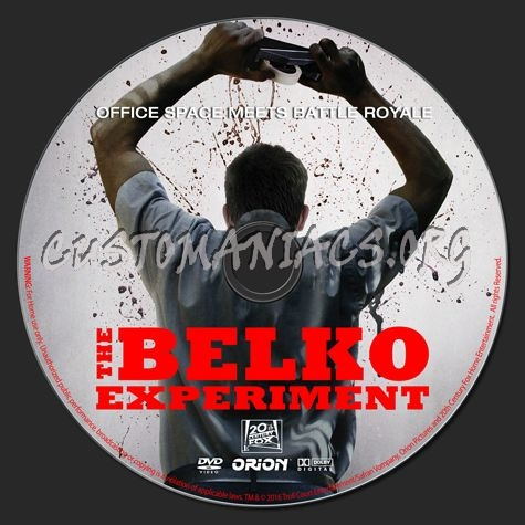 The Belko Experiment (2016) dvd label