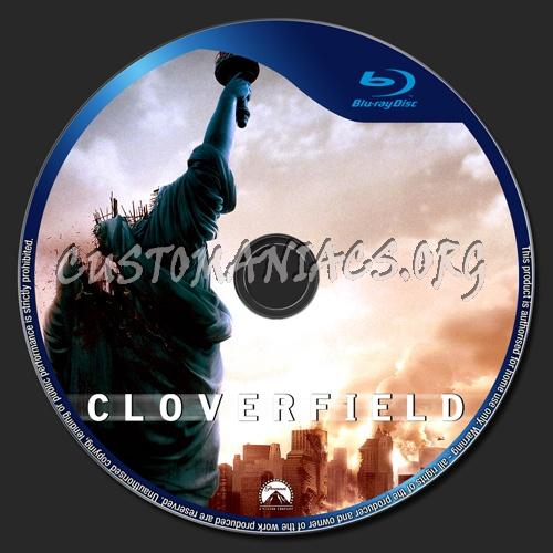 Cloverfield blu-ray label