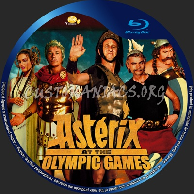 Asterix at the Olympic Games blu-ray label