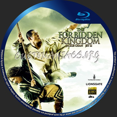 The Forbidden Kingdom blu-ray label
