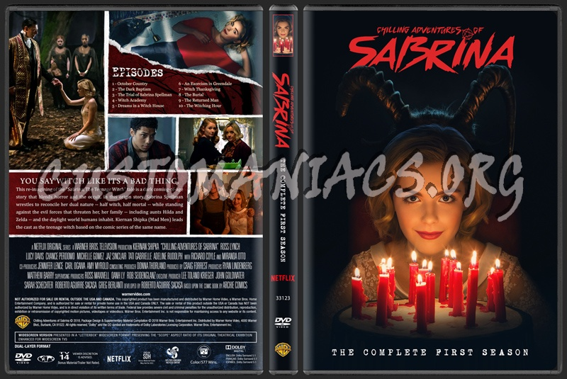 Chilling Adventures of Sabrina - The Complete First Season dvd cover